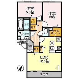 BLOCK−K[1階]の間取り