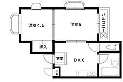 ドエル岡本[305号室]の間取り