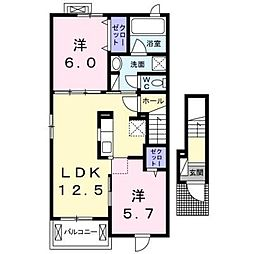 イーストシュラインII[2階]の間取り