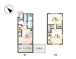 [テラスハウス] 東京都日野市万願寺2丁目 の賃貸【/】の間取り