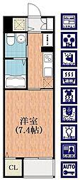セラヴィ[4階]の間取り