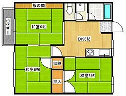 第2グリーンコーポ近藤[203号室号室]の間取り