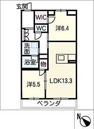 仮)JA賃貸豊田市三軒町 3階2SLDKの間取り
