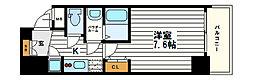 レジュールアッシュ松屋町[10階]の間取り