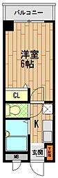 グレイスハイツ六甲[3階]の間取り