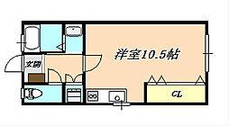 竹内ハイツ[2階]の間取り