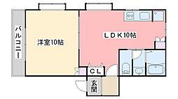 福岡県福岡市西区小戸1丁目の賃貸アパートの間取り
