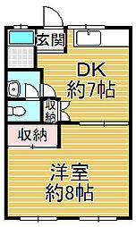 プラセール岸和田[3階]の間取り
