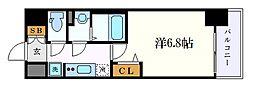 名古屋市営東山線 名古屋駅 徒歩8分の賃貸マンション 8階1Kの間取り