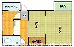 大阪府枚方市牧野阪3丁目の賃貸アパートの間取り