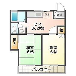 シティプラザK[1階]の間取り
