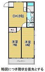 愛知県名古屋市千種区川崎町2丁目の賃貸マンションの間取り