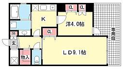 アロハ三宮[1階]の間取り