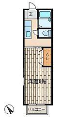 コーポさわ[2階]の間取り