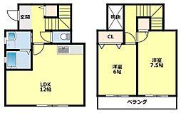 [タウンハウス] 愛知県豊田市井上町11丁目 の賃貸【/】の間取り