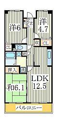 柏ビクトリーマンション壱番館[3階]の間取り