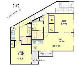 モダンモート徳丸[1階]の間取り