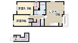 愛知県名古屋市守山区大字下志段味字石米の賃貸アパートの間取り