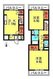 シャトーブランカ[3階]の間取り