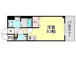 ラグタイム平野[7O6号室号室]の間取り