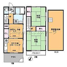 [テラスハウス] 東京都大田区上池台2丁目 の賃貸【/】の間取り