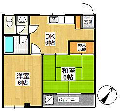 高橋コーポ[203号室号室]の間取り