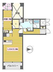プラスヴァンドームサントル[10階]の間取り
