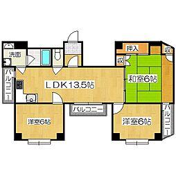 ラ・サール御所[1階]の間取り
