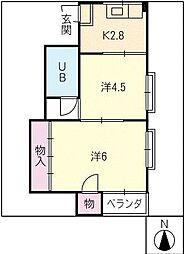 長島ビル2[3階]の間取り