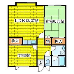 第2ガーデンハウス[3階]の間取り