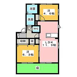 カラコレス桜台[1階]の間取り