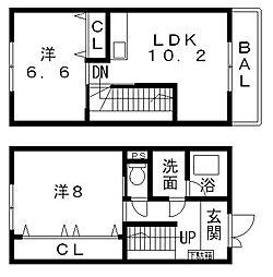 [タウンハウス] 大阪府八尾市渋川町6丁目 の賃貸【/】の間取り