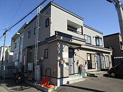 北海道札幌市北区百合が原9丁目の賃貸アパートの外観