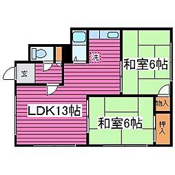 新道アパート[202号室]の間取り