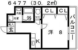 ボワリジェールOKA[202号室号室]の間取り