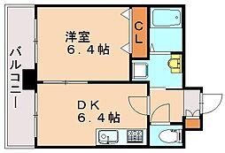 高口箔屋ビル[3階]の間取り