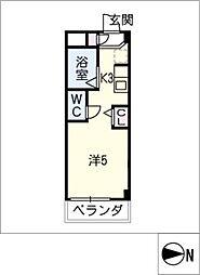 シャトー岐大 A棟[3階]の間取り