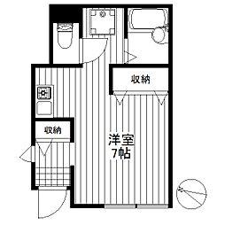 東京都世田谷区太子堂2丁目の賃貸アパートの間取り