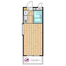 モナークマンション溝の口第2[0201号室]の間取り