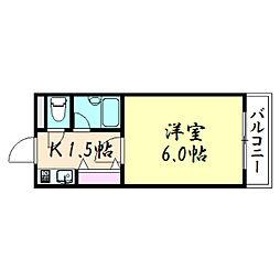 メゾンイシケン[1階]の間取り