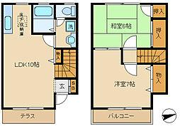 [テラスハウス] 千葉県松戸市栄町6丁目 の賃貸【/】の間取り
