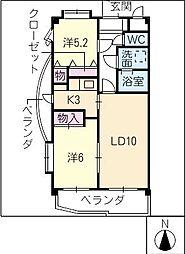 マンションイトキ滝ノ水[2階]の間取り