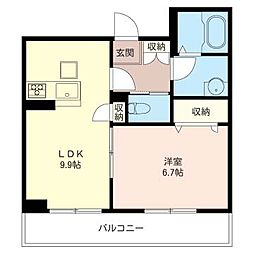 仮)姉崎シャーメゾンC棟[302号室号室]の間取り