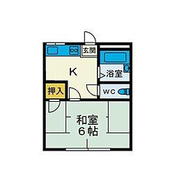 ハビテーション野口[2階]の間取り
