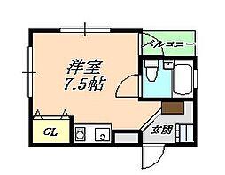 水島マンション[1階]の間取り