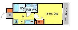Osaka Metro堺筋線 北浜駅 徒歩5分の賃貸マンション 9階1Kの間取り