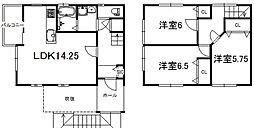 [テラスハウス] 滋賀県大津市唐崎1丁目 の賃貸【/】の間取り