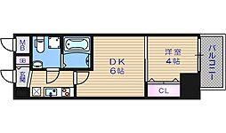SEST北浜[13階]の間取り