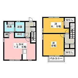 [テラスハウス] 三重県員弁郡東員町笹尾西4丁目 の賃貸【/】の間取り