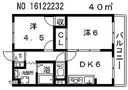 大阪府大阪市東住吉区公園南矢田1丁目の賃貸マンションの間取り